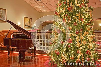 Bożych narodzeń pianina drzewo
