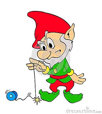 Bożenarodzeniowy elfa jo-jo