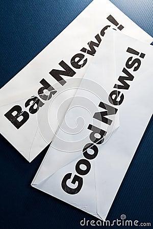 Boa notícia e notícia ruim