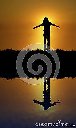 Boa reflexão de sentimento