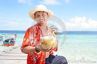 Boa vinda na praia tropical