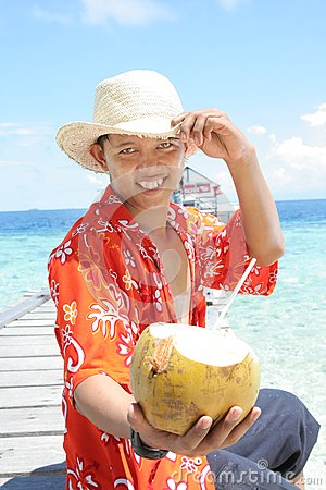 Boa vinda à praia tropical