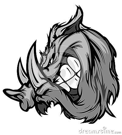 Boar Razorback Mascot Vector Logo