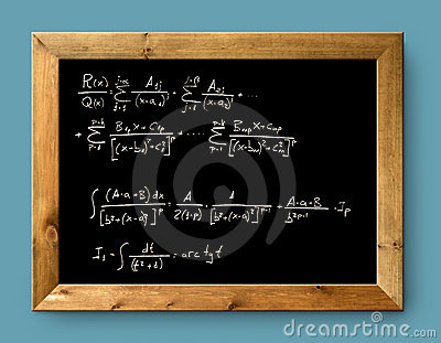 Board black blackboard difficult  formula math