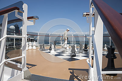 On-board chess. Editorial Image
