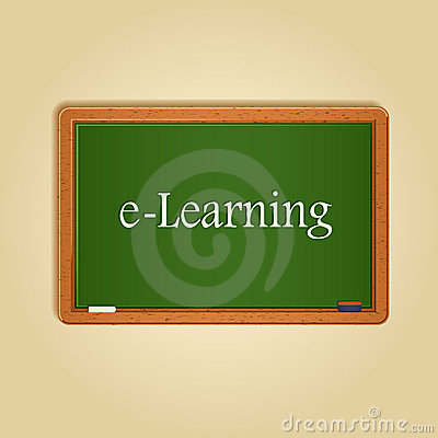 Board With E-learning Word On It