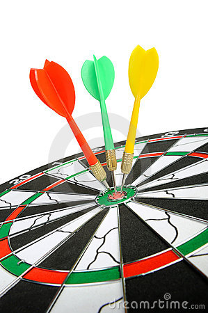 Free Board For Darts. Stock Image - 11863841