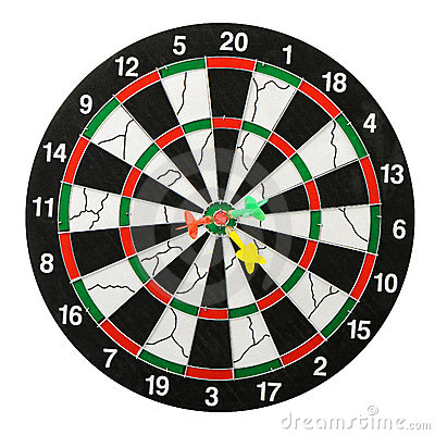 Free Board For Darts. Royalty Free Stock Photo - 12252115