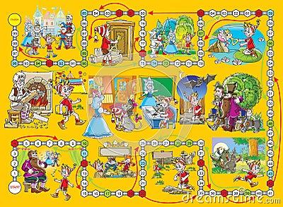 """Board game """"Buratino"""""""