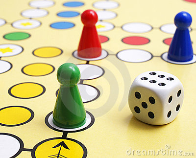 Board Game With A Block Path In The City With Cartoon People Stock ...