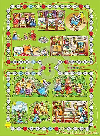 """Board game """"Three bears"""""""