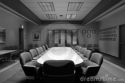 Board Room in Black and White