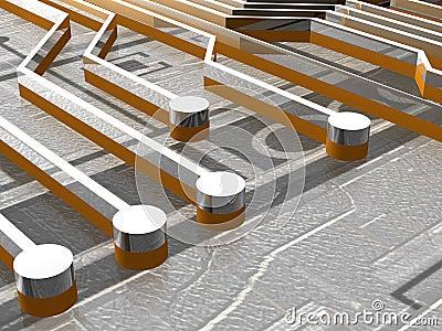 Board - Traces - 3D
