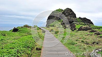 Board walk at San Xian Tai in Taiwan