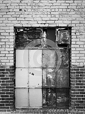 Boarded Up Warehouse Window