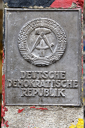 Boarder post of former GDR
