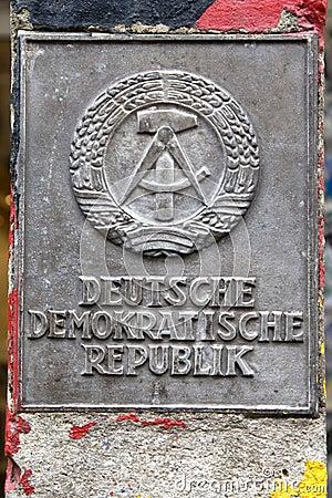 Boarder post of former GDR