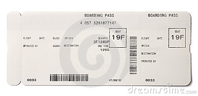 Blank Airline Boarding Pass Ticket Image Image 18294281 – Boarding Pass Template