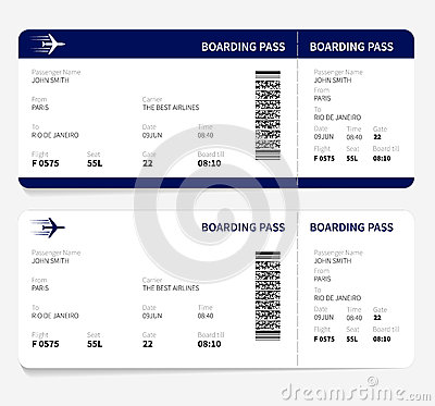 Free Boarding Pass Royalty Free Stock Images - 53186069