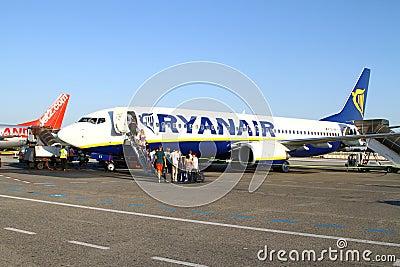 Boarding Ryanair Editorial Stock Image