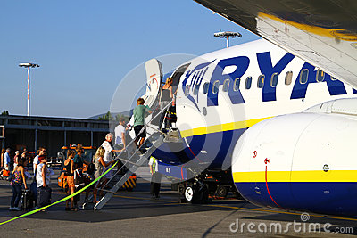Boarding Ryanair Editorial Image