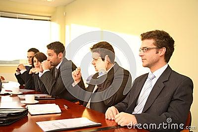Boardroom brainstorming