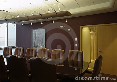 Boardroom empty meeting room