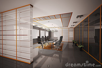 Boardroom interior 3d render