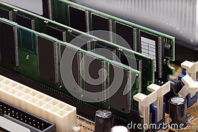 Boards of RAM memory
