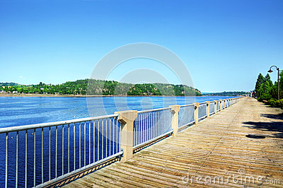Boardwalk along the Saguenay river