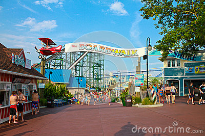 The Boardwalk at Hersheypark, PA Editorial Stock Image