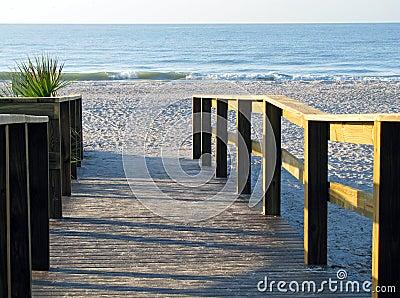 Boardwalk leading to beach