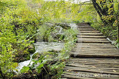 Boardwalk in Plitvice