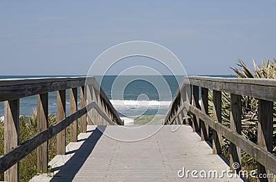 Boardwalk to Atlantic Ocean
