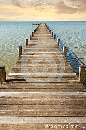 Free Boardwalk To The Endless Horizon Stock Image - 45387541