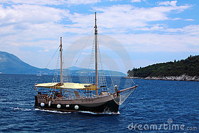Boat in Adriatic sea