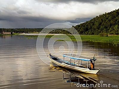 Boat in the Amazônia