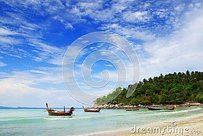 Boat on Andaman Sea