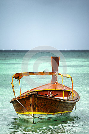 Free Boat At Sea Thailand Stock Photography - 35662182