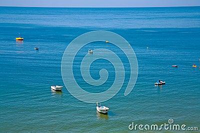 Boat in Atlantic ocean
