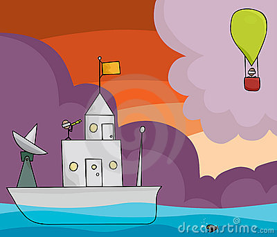Boat and Balloon