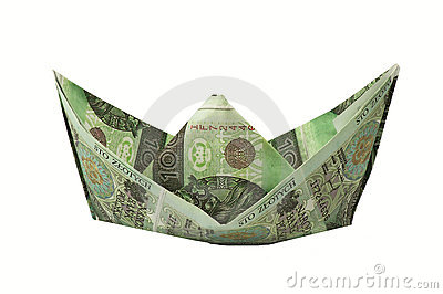 Boat of banknotes
