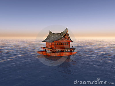 Boat With Boat House