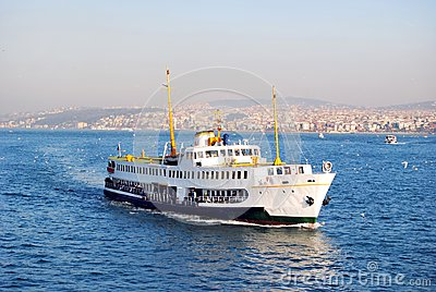 Boat on bosphorus