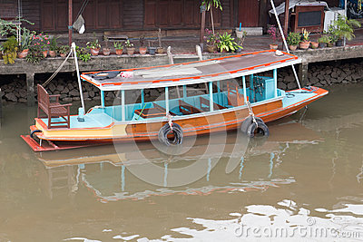 Boat on Canal Editorial Image