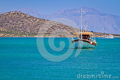 Boat at the coast of Crete