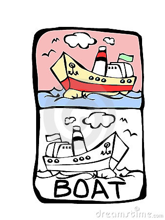 Boat coloring book