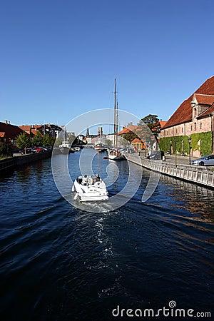 Boat on a copenhagen canal