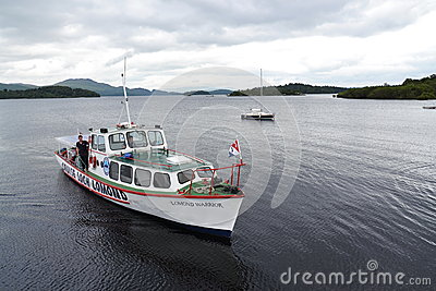 Boat cruise on Loch Lomond, Scotland, United Kingdom Editorial Photo