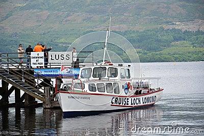 Boat cruise on Loch Lomond, Scotland, United Kingdom Editorial Photo